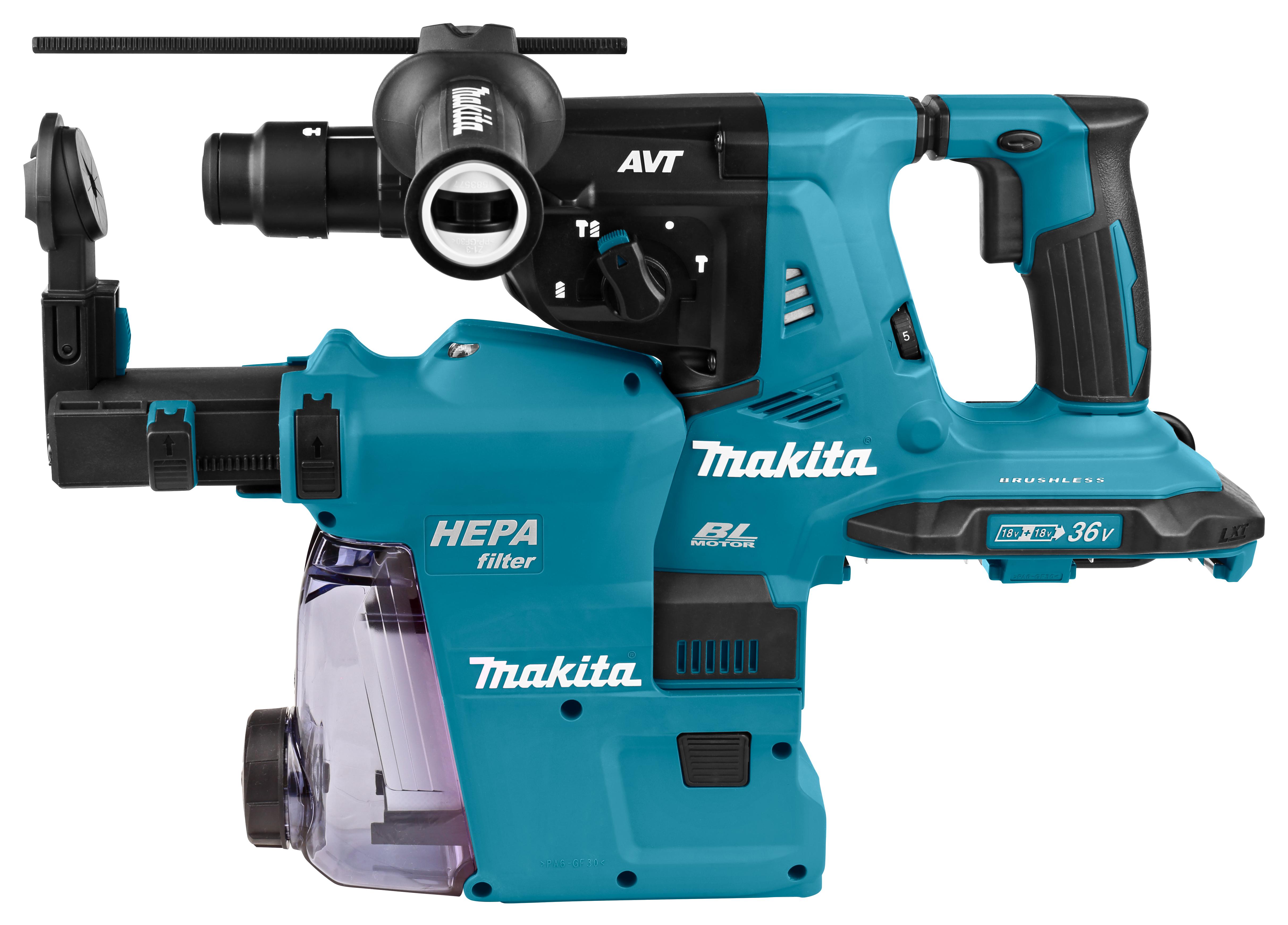 Makita DHR281- 2x18 V SDS-PLUS Combihamer