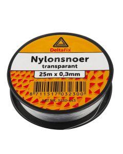 NYLON SNOER TRANSPARANT 0.3 MM DIK / 25 MTR LANG