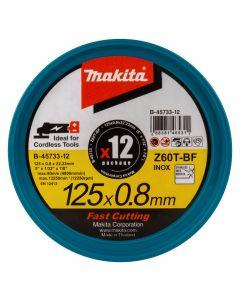 Makita B-45733-12 Doorslijpschijf RVS 125x22,28x0,8mm