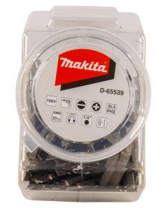 Makita D-65539 Schroefbit dubbel PH2-SL5 65mm in pot 100 stuks