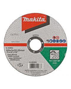 Makita A-85363 Doorslijpschijf 125x22,23x3,0mm steen