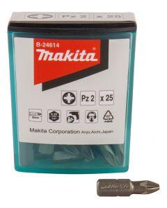 Makita B-24614 Schroefbit PZ2x25mm 25 stuks