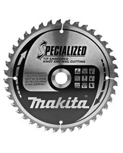 Makita B-40593 Afkortzaagblad Hout (noest/spijker)