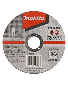 Makita B-45325 Doorslijpschijf 115x22,23x1,0mm aluminium