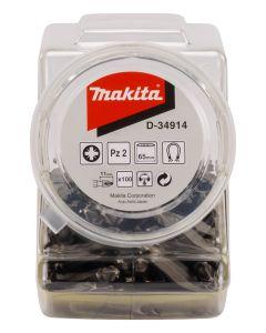 Makita D-34914 Schroefbit dubbel PZ2x65mm in pot 100 stuks