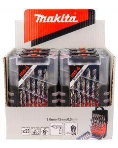 Makita D-50457-6  HSS-G metaalborensets 25-delig.