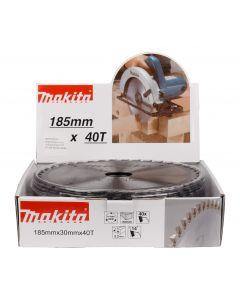 Makita D-52607 HM cirkelzaagblad 185x20x2,2 40T 14g