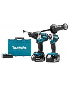 Makita DLX2174TX1 18 V Combiset voor zwaardere (klop)boor- en (slag)schroefklussen