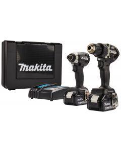Makita DLX2189TB 18 V Combiset voor schroeven- boren en (slag)schroeven