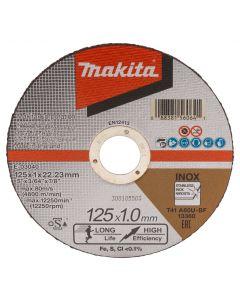 Makita E-03040-12 Doorslijpschijf 125x22,23x1,0mm RVS