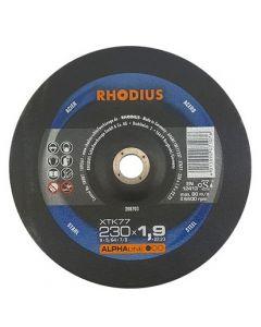 Rhodius XTK77 Doorslijpschijf 230x1,9x22,23mm staal / rvs / inox
